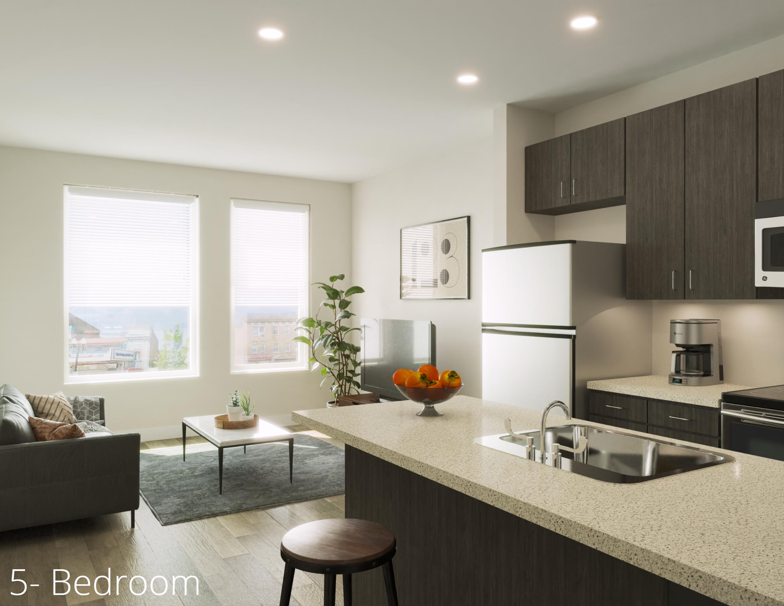 5 bedroom apartment Short Vine
